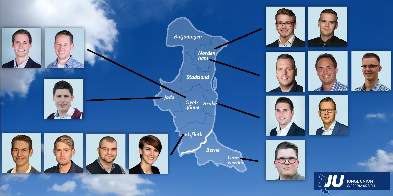 Kommunalwahlkandidaten der JU Wesermarsch